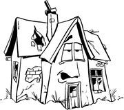 Home repair real estate cartoon Vector Clipart Stock Photos