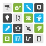 Home repair and renovation icons. Vector icon set stock illustration