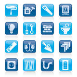 Home repair and renovation icons Stock Image