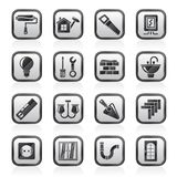Home repair and renovation icons Royalty Free Stock Image