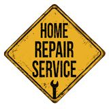 Home repair service vintage rusty metal sign stock photo