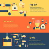 Home Repair Tools Banners Royalty Free Stock Photography