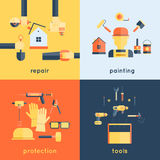 Home Repair Tools Flat Stock Images