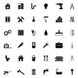 Home repair and tools Icons Royalty Free Stock Photos