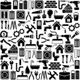 Home repair and tools Icons. Vector illustration Royalty Free Stock Images
