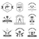 Home Repair Tools Labels Flat Royalty Free Stock Image