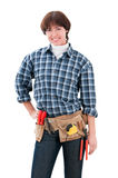 Home repair woman Stock Images