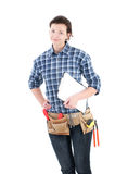 Home repair woman Royalty Free Stock Photo