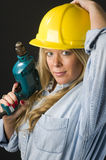 Home repair woman contractor Stock Photography