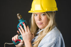 Home repair woman contractor Stock Image