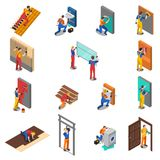 Home Repair Worker People Icon Set Royalty Free Stock Photo