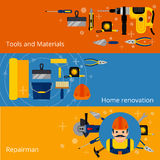 Home repairs and renovation banners Royalty Free Stock Photo