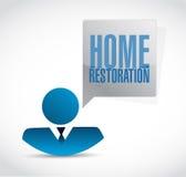Home restoration avatar sign illustration Stock Images