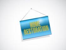 Home restoration banner sign illustration design Stock Image
