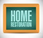 Home restoration board sign illustration design Royalty Free Stock Image