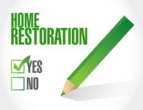 Home restoration check approval sign Royalty Free Stock Image
