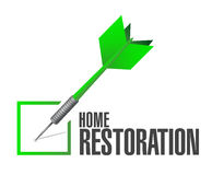 Home restoration check dart sign illustration Royalty Free Stock Photos