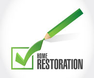 Home restoration check mark sign Stock Photo