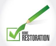 Home restoration check mark sign Stock Photo