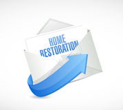 Home restoration email sign illustration design Royalty Free Stock Photography