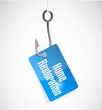 Home restoration hook tag sign illustration design Stock Images