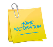 Home restoration memo post sign illustration Royalty Free Stock Photo