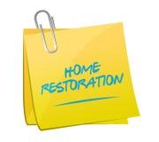 Home restoration memo post sign illustration Royalty Free Stock Photo