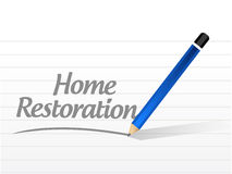 home restoration message sign Royalty Free Stock Photo