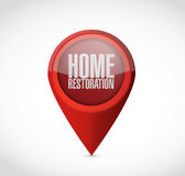 Home restoration pointer sign illustration Royalty Free Stock Image