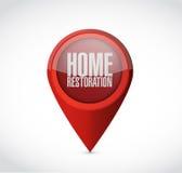 Home restoration pointer sign illustration Royalty Free Stock Image