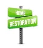 Home restoration road sign illustration Stock Images