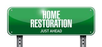 Home restoration street sign illustration Stock Image