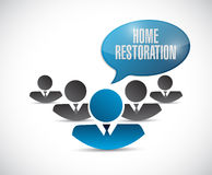 Home restoration teamwork sign Stock Photography