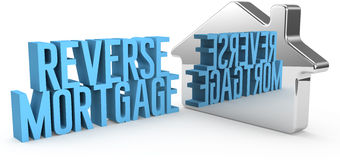 Home Reverse Mortgage house concept Stock Images