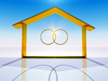 Home and rings Stock Photos
