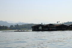 Home on river in thailand Royalty Free Stock Photos