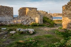 Home ruins in Ushand island Royalty Free Stock Photography