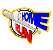 Home run royalty free illustration