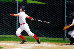 Home Run. Baseball Player just hit a Homerun Royalty Free Stock Images