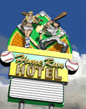 Home Run Hotel Royalty Free Stock Images