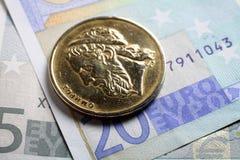 Home run y euros Foto de archivo