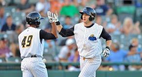 Home-Runglückwünsche - Baseball Lizenzfreie Stockfotos