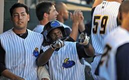 Home-Runglückwünsche - Baseball Lizenzfreies Stockfoto