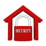 home säkerhet Arkivbild