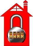 home säkerhet Arkivfoto