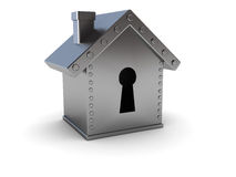 Home safe. Conceptual 3d illustration of home safe over white background Royalty Free Stock Photography