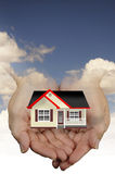 Home in safe hands Stock Images