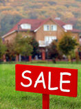 Home for sale. The residential home for sale Stock Photos