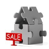 Home for sale. Abstract symbol of home for sale Stock Image