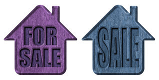 Home for sale. Advertising label Royalty Free Stock Photography